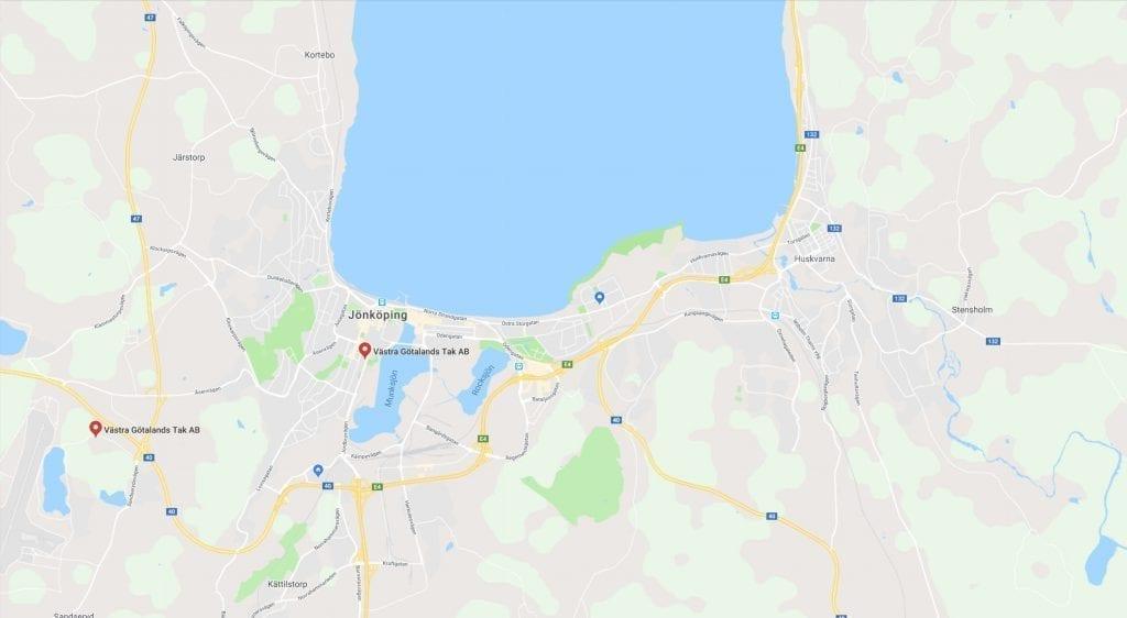 Västra Götaland Tak Karta Jönköping