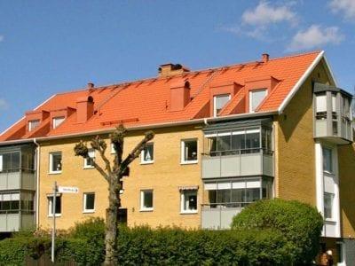 Trevåningshus-tak